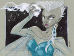 Storm as Elsa, X-Men-Frozen Mash Up by Hodges-Art