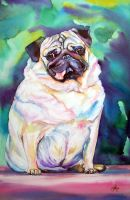 Pudgey Pug by christystudios