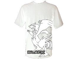 Pokemon Black T-Shirt by xAm0n12x