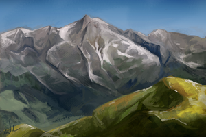Nov 18th Speed Paint Study Mountaints by charfade