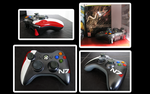 Mass Effect N7 Controller by FeveredDreams