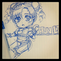 Sketch Chibi Chun Li by MzzAzn