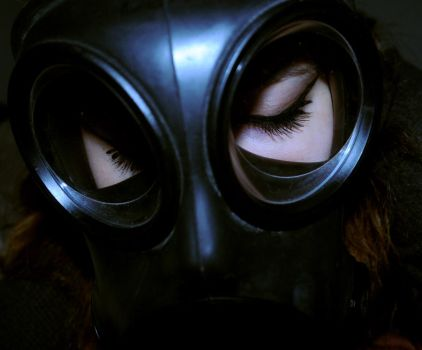 Gas Mask Girl by GinaGorgeous