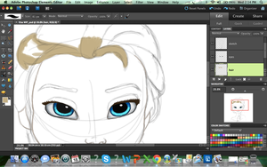 Elsa Sneak peak by BlackAngelLucia