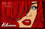 Rihanna Red by RavensSoulDesigns