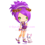 purple + gold by Gya