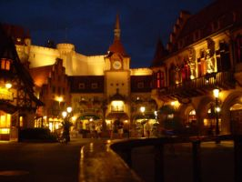 Epcot: Germany at Night by SketchbookBoy