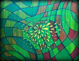green cosmic wave by santosam81