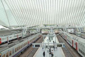 Gare de Liege Guillemins train station by MoonChildMaddi