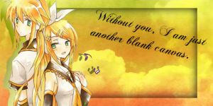 Rin and len banner 3 by characterclover