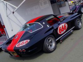 666 Number of the Beast Vette by Partywave