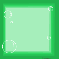 green bubble frame by snoopyluver5