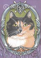 Syd The Cat Framed Portrait Series 4 of 9 by natamon