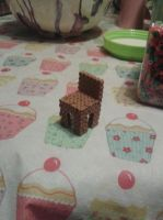3D perler bead chair by Rest-In-Pixels