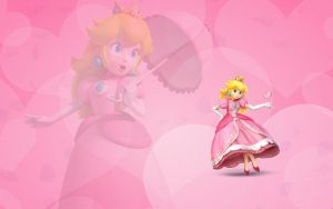 Princess Peach wallpaper by L-yre