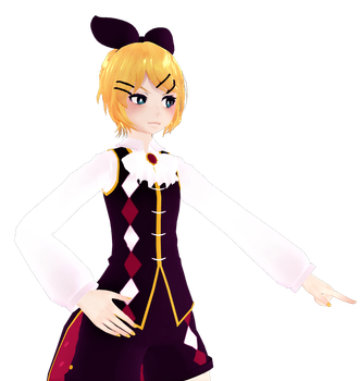 Rin Childish War Pose by Cera-Nore