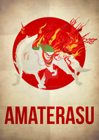 Amaterasu Minimalism by skellerone