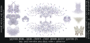 Mother Pearl Head Crown Chest Accent Armor Fx by AdamF-X29