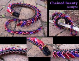 Chainmaille Dragon of Twilight by ChainedBeauty