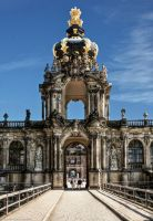 Crown Gate of the Zwinger by pingallery