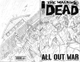 The Walking Dead Sketch Cover by bphudson