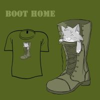 Woot Shirt - Home Boot by fablefire
