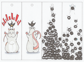 Ghibli Bookmarks 02 by Dezfezable