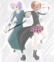 Soul Eater - Maka and Chrona by akamik