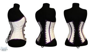 For SALE - White Steam Corset Back by Larva by Eisfluegel