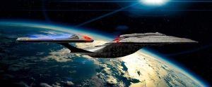 USS Enterprise E in space by HBsuperman