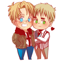 APH: AmericaxEngland by HoneyHamster