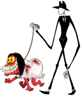 Slender and Smiledog by scythemantis
