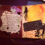 Art Journal: Parting Glass and Courage Sunset by Alaminia