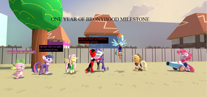 ONE YEAR OF BRONYHOOD MILESTONE by kxp71