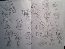 The Amazing World of Gumball Characters Sketches by KHXhero