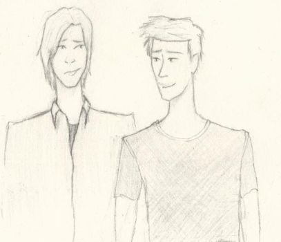 The Winchester brothers by Ithilnarmo