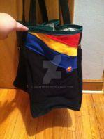 Upcycled Superman T-shirt Bag - Side by snowtigra