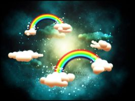 rainbow in clouds by semyk3