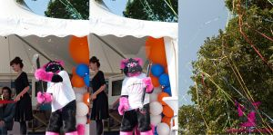 Pinky and a Confetti shooter by FurryFursuitMaker