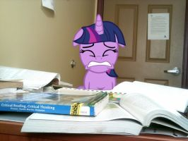 Twilight Sparkle: Too... Much... WORK! by Paris7500