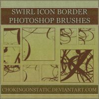 swirl icon border brushes by chokingonstatic