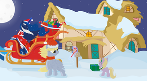 Christmas with pony by Rusilis