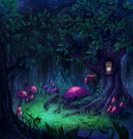 night forest by teritori