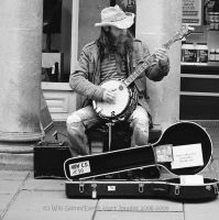 Bath Banjo Busker by EarthHart