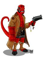hellboy sketchh by hannibal870