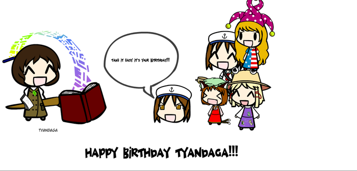 HAPPY BIRTHDAY TYANDAGA by FnafDulen