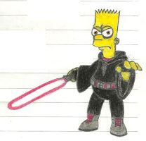 Bart Simpson Lord of the Sith by Aeruhl