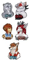 Some Bust Badges by Shadow-Wolf