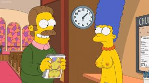 The.Simpson - Marge and Flanders, church 6 09 by 2ndChainMale