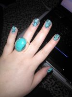 Turquoise Nails by IdaBlack